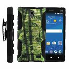 FOR SAMSUNG GALAXY PHONES CASE RUGGED ARMOR HYBRID HOLSTER Green Jungle Camo