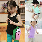 Summer Sleeveless Kids Clothes Girls Boys Modal Vest Tank T-shirt Tee Tops A73