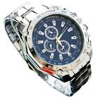 Mens fashion Three Eyes Six Steel Needle Business sports Silicone gift Watch