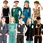1940s Evacuee Kids Fancy Dress WW2 40s WWII Childrens Boys Girls Costumes New