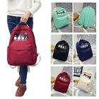 Cute Backpack Travel Rucksack Shoulder Canvas School Bag Women Men Unisex F7P7
