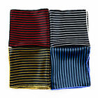 New SANTOSTEFANO Italy Handmade Striped Silk Pocket Square Handkerchief $150!