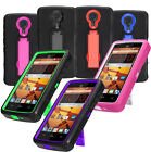 For ZTE N817 Rugged Heavy Duty Stand Hybrid Cover Case Phone Protector