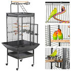 "61""Parrot Cage with Playtop Parrot Finch Cage Macaw Cockatiel Cockatoo Pet House"