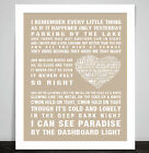 Meat Loaf Paradise by the Dashboard Light Music Love Song Lyric Word Art Print