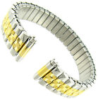11-14mm Speidel Express Twist-O-Flex Two Tone Stainless Steel Watch Band 1603