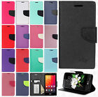 For LG K7 / Tribute 5 Premium Leather 2 Tone Wallet Case Pouch Flip Cover