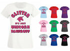Womens Glitter It's Just Unicorn Dandruff Tumblr Funny Slogan T-shirt UK 6-20