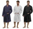 BR3 Mens Bathrobe Waffle 100% Pure Cotton  Dressing Gown Robe Gift