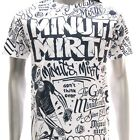m251w Minute Mirth T-shirt M L XL Tattoo Skull Classic Biker Devil Gangster emo
