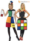 Ladies 80's Rubik's Cube Costume Adults Retro Fancy Dress Womens 1980s UK 8 - 18