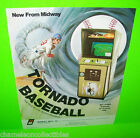 TORNADO BASEBALL By MIDWAY 1976 ORIGINAL VIDEO ARCADE GAME MACHINE SALES FLYER