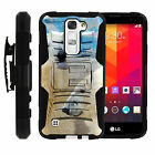 LG K7 | Tribute 5| Rugged Holster Clip Heavy Duty Case Wild Animals