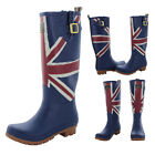 Joules British Flag Women's Union Jack Rain Boots Rubber Wellies