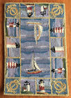 """AREA RUGS - """"GRAND REGATTA"""" HAND HOOKED WOOL RUG - LIGHTHOUSES - SAILBOATS"""