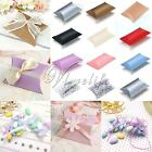 50/100pcs Pillow Favor Gift Box Wedding Party Favour Kraft Paper PVC Candy Boxes