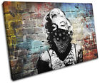 Marylin Tattoo Graffiti Grunge Urban SINGLE CANVAS WALL ART Picture Print