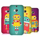 HEAD CASE DESIGNS ROBOT KIDS HARD BACK CASE FOR HTC ONE M8