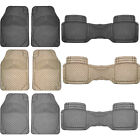 3pcs Premium Flex Rubber Front Car Floor Mats & Back row Runner