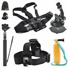 EEEKit for Sports Action Camera,Head Strap/Grip/Chest Harness/Suction Cup/Selfie
