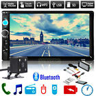 7'' HD Bluetooth Touch Screen Car Stereo Radio 2 DIN FM MP5 MP3 USB AUX + Camera