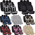 9pc SUV Double Stitched Combo Front Seats Back Bench Covers