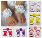 Wholesale 3Pcs Baby Infant Headband Foot Flower Elastic Hair Band Accessories HQ