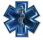 "Bumper Window 3M Reflective Sticker Decal EMS EMT Caduceus 2"" 4"" or 6"""