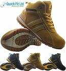 MENS LEATHER ULTRA LIGHTWEIGHT STEEL TOE CAP SAFETY WORK BOOTS TRAINERS SHOES