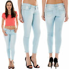 New Women's Sexy High Waisted Stretch Fit Skinny Slim Denim Pants Jeans XS to XL
