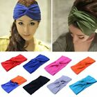 Women Cotton Turban Twist Knot Head Wrap Headband Twisted Knotted Hair Band UK