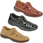 NEW SMART UNSMENS LEATHER FULL SANDALS SUMMER VELCRO SHOES CLOSED TOE SANDAL