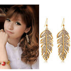 New Design Bohemian Style Gold/Silver Crystal Leaves Feather Fine Jewelry Sets