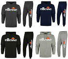 New Ellesse Mens Hooded Fashion Fleece Full Tracksuit Top & Jogging Bottoms S-XL