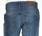 DIESEL Mens Regular Straight Denim Jeans LARKEE Embroidered MID BLUE 30-40 $198