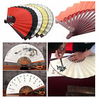 Calligraphy Paint Chinese Plain Silk Blank Drawing Art DIY Folding Hand Fan LOT
