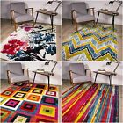 New Modern Art London Rugs Funky Mat Chevron Multi Coloured Art Deco Lounge Rugs