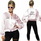 Womens Grease Pink Ladies Jacket Adult Fancy Dress Costume 50s 60s 70s Hen Party