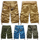 Men's Military Army Combat Tactical Work Pocket Camo Pants Cargo Shorts Trousers