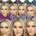 Ladies Animal Camoflauge Headband Hair Bow Cat Ears Hen Party Fancy Dress Outfit