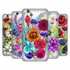 HEAD CASE DESIGNS WATERCOLOURED FLOWERS SOFT GEL CASE FOR HTC ONE X9