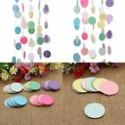 Paper Garland Round Drop Circle Banner Bunting Wedding Party Pon Decoration