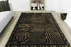 Contemporary Black Animal Print Rugs Small Large Non Shed Modern Runner Rugs UK
