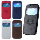 New For Samsung Galaxy S4 SIV I9500 View Leather Flip Magnetic Full Case Cover