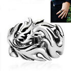 1 Pcs Biker Mens Ring Dragon Pattern Stainless Steel Creative Gothic Dragon Claw