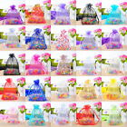 100 Drawable Organza Wedding Gift Bags&Pouches 9x12cm M0113
