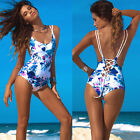 2016 Sexy Women Push Up Padded Bikini Floral One Piece Bathing Monokini Swimsuit