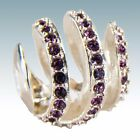 Authentic Chamilia Silver Bead Modern Glam Purple Swarovski NEW -- 2025-0929