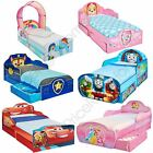DISNEY CHARACTER TODDLER JUNIOR BEDS WITH STORAGE 3 MATTRESS OPTIONS AVAILABLE