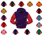 Faux Leather Sleeve College Varsity Men Wool Jackets Hoodie #RS-RS-RB-H-FL